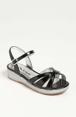 Nina Wedge Sandal (Toddler, Little Kid & Big Kid) Black 3 M