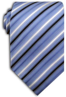 Geoffrey Beene Titanium Stripe Extra Long Tie
