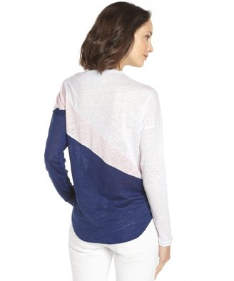 C&C California Lilac And Snow Linen Jersey Colorblock Dolman T-Shirt