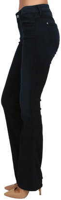 7 For All Mankind The Skinny Boot in Black Weft Dark Blue