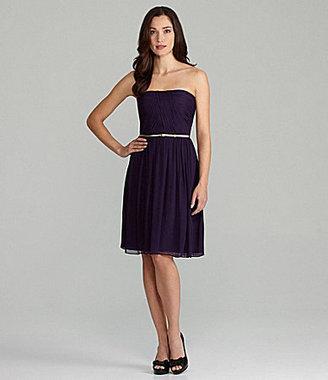 Donna Morgan Bridesmaid Strapless Chiffon Dress