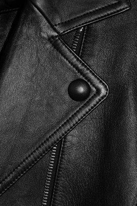 Alexander Wang Trompe l'oeil leather biker jacket