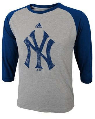 New York Yankees Adidas raglan tee - boys 8-20