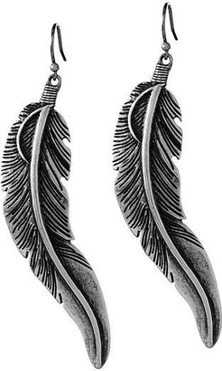 Lucky Brand Long Feather Drop Earring