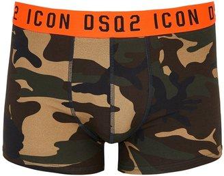 DSQUARED2 Icon Camouflage Stretch-cotton Boxer Briefs