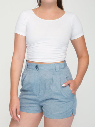 American Apparel High-Waist Pleated Short