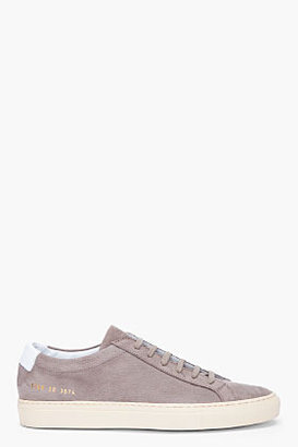 Common Projects Grey Suede Achilles Vintage Sneakers