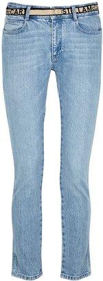 Stella McCartney Blue Belted Slim-leg Jeans
