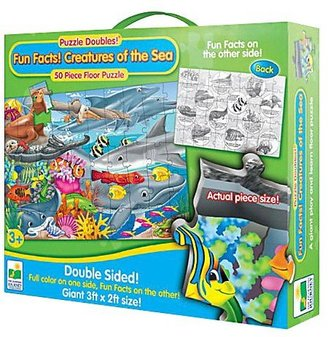 The Learning Journey Puzzle Doubles Fun Facts (Creatures of the Sea)