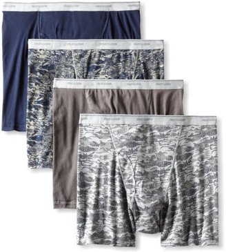 Fruit of the Loom Men's Big 4 Pack Print Boxer Brief