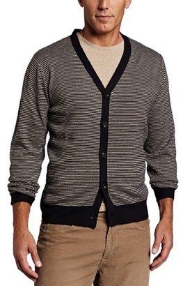Geoffrey Beene Men's Stripe Cardigan Sweater