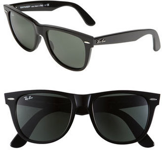 Women's Ray-Ban 'Classic Wayfarer Xl' 54Mm Sunglasses - Black $150 thestylecure.com