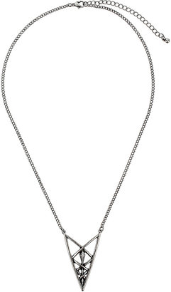 Topshop Cut Out Triangle Pendant