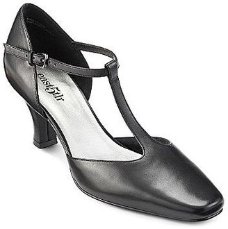 JCPenney east5th® Leather Tracey T-Strap Pumps