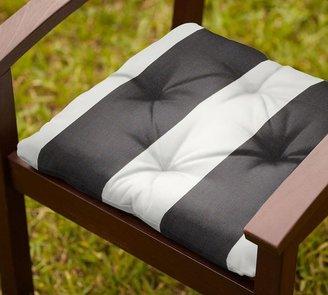 Pottery Barn Outdoor Chair Cushion - Black & White Stripe Sunbrella®