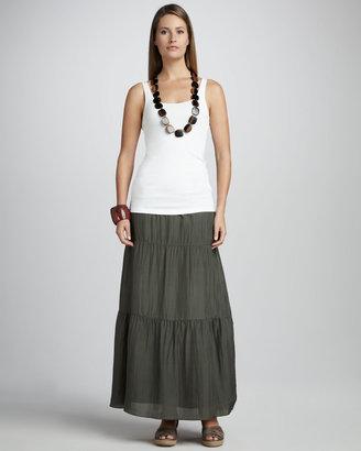 Eileen Fisher Habutai Silk Maxi Skirt