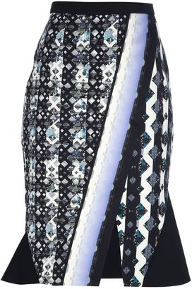 Peter Pilotto monochrome printed skirt