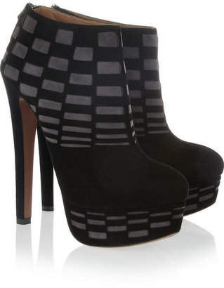 Alaia Cutout suede ankle boots