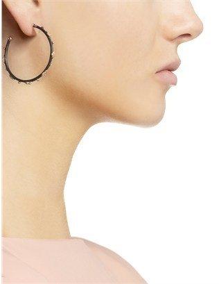 Armenta Midnight Diamond Hoop Earrings