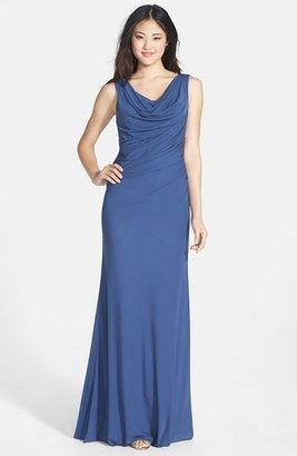 Vera Wang Sleeveless Jersey Gown