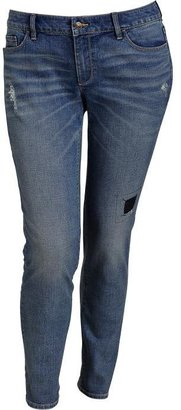 Old Navy Women's Plus Distressed Low-Rise Skinny Jeans