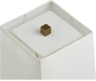 Crate & Barrel Clare Brass Floor Lamp
