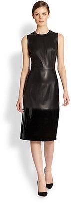 Bottega Veneta Glossy Leather Dress