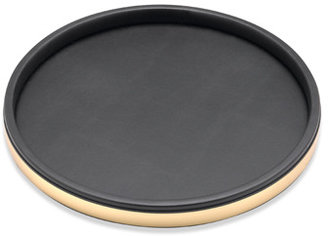 "Bed Bath & Beyond KraftWare™ Sophisticates Deluxe 14"" Serving Tray - Polished Gold Trim"