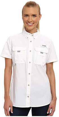 Columbia Bahamatm S/S Shirt (White) Women's Short Sleeve Button Up