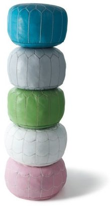 Lime Moroccan Leather Pouf