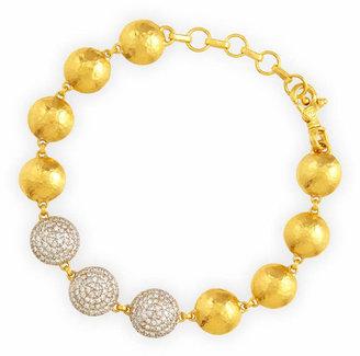 Gurhan Lentil Ice 24k Gold & Diamond Bracelet