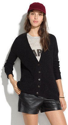 Madewell Ribbed Swing Cardigan