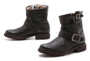 Frye Valerie Shearling Lined Booties