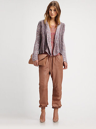 See by Chloe Mixed-Pattern Sweater