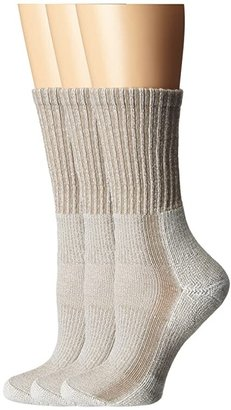 Thorlos Light Hiker Crew 3-Pair Pack (Khaki) Women's Crew Cut Socks Shoes