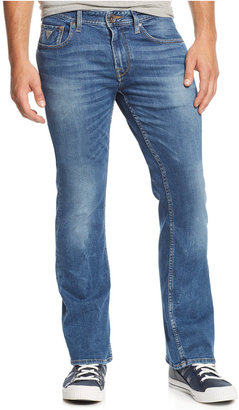 GUESS Men's Bootcut Folsom Blues-Wash Jeans $98 thestylecure.com