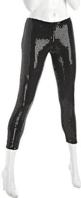 Plan B black stretch sequined leggings