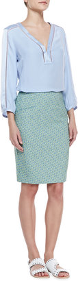 Nanette Lepore Orchid Printed Pencil Skirt