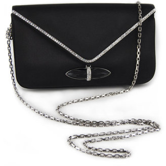 Judith Leiber Whitney Satin Clutch Bag, Black