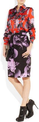 Jonathan Saunders Anita peony-print silk-satin shirt