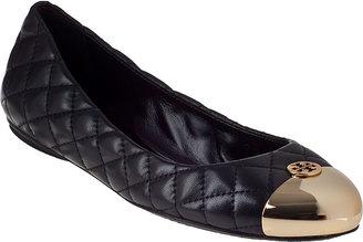 Tory Burch Kaitlin Ballet Flat Black Leather