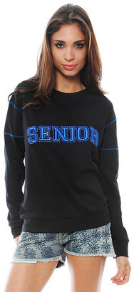 Pencey Senior Sweatshirt in Black