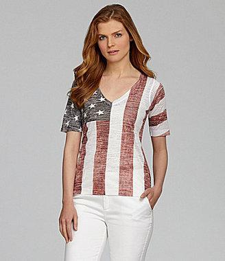 Nurture American Flag Burnout Tee