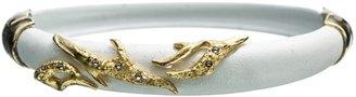 Alexis Bittar Liquid Gold & White Small Thorny Hinge Bracelet