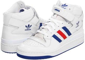 adidas Forum Mid (White/Collegiate Royal/Collegiate Red) - Footwear