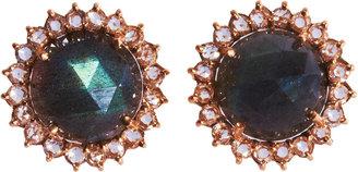 Irene Neuwirth Labradorite & Diamond Stud Earrings