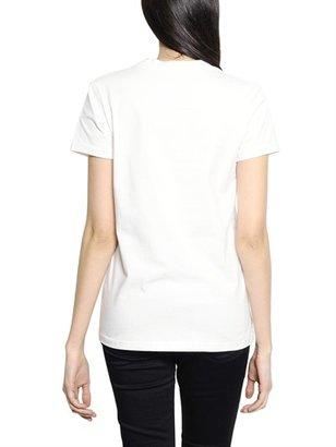 Markus Lupfer Red Lip Printed Cotton Jersey T-Shirt