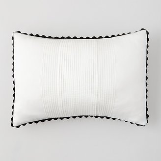 "Vera Wang Pom Pom Pleats Pillow, 15"" x 20"""