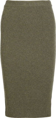 Michael Kors Ribbed cashmere skirt