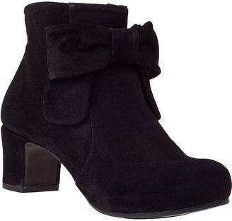 Chie Mihara Kawbow Ankle Boot Black Suede